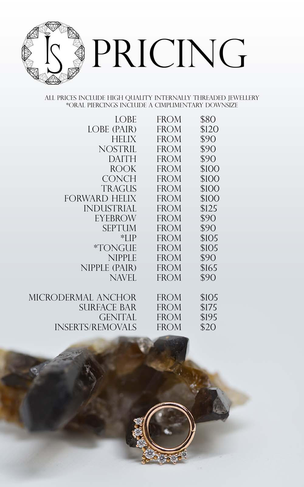 pricelist IS